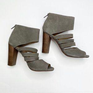 Splendid Taupe Leather Ankle Bootie Heel Sandal